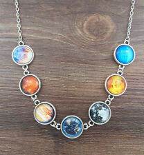 Solar system necklace, planet necklace,universe necklace,galaxy necklace jewelry