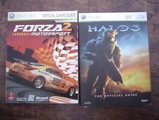 2 XBOX 360 Game Guides - Halo 3, Forza 2