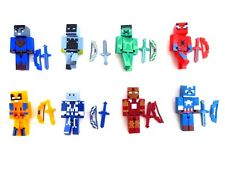 8 PCs Minecraft Marvel Super Heroes Minifigures with 16 Weapons Kids Gift Toy