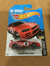 Hot Wheels 2016 #83/250 NISSAN SKYLINE GT-R (R34) *RED ~NEW !!!