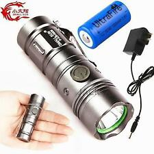 ZY-R828 1200LM 6 LED 3 Mode16340 Mini  Torch light beam rechargeable