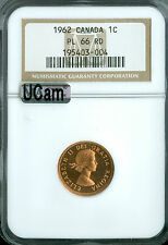 1962 CANADA CENT NGC MAC PL66 RD UHCam Ultra Heavy Cam Very Rare *