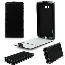 SLIM FLEXI Flip Tasche Case Klapp Hülle für Samsung Galaxy J1 - Schwarz