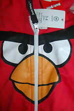 NEW * Angry Birds Red Onesie Age 3-4 98cm-104cm Bird face Hood Pocket Party