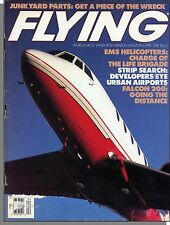 Flying - 1987, April - Aircraft Scrapyards, EMS Helicopters, Falcon 200