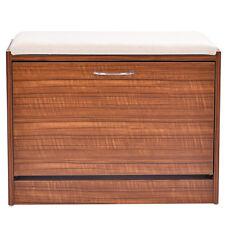 Shoe Cabinet Storage Closet Organizer Ottoman Bench Shelf Entryway W/Handle New