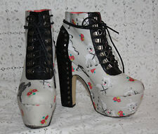 Iron Fist Lamby Booties Shoes Boots Skull Studded RARE SOLD OUT Rock Gothic Sz 9