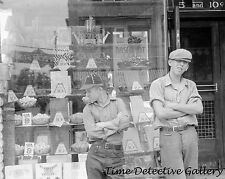 Boys at the Candy Store, Circleville, Ohio - 1938 - Historic Photo Print