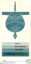 Ticket Jacket - Southeast Airlines - Timetable - F27 design - 1966 (J1183)