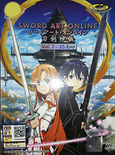SWORD ART ONLINE The Complete TV Series Ep.1 to 25 End PLUS OST DVD Box Set