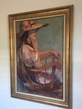 Beautiful Large Framed Vintage Oil Painting On Canvas Signed T Schudie 1978