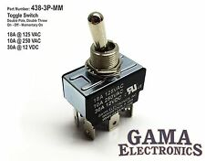 DPDT 3 Position On-Off-Momentary On Toggle Switch - 438-3P-MM