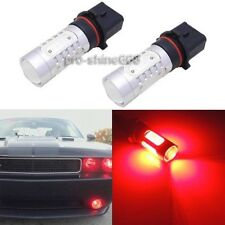 2x Red P13W 12277 High Power LED Projector Bulbs For Car DRL Driving Fog Light