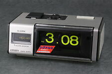 CITIZEN Flip Battery Alarm Clock Silver Signal Q