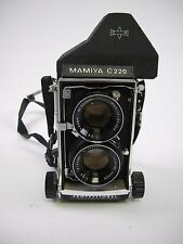 Mamiya C220 Twin Lens Reflex Camera Outfit with 80MM F2.8 Lens & Prism Finder,EC