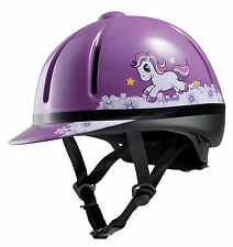 TROXEL LEGACY SLIM PROFILE purple unicorn HORSE TACK RIDING HELMET MEDIUM
