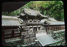 GLASS MAGIC LANTERN SLIDE YOMEIMON GATE NIKKO  C1920 JAPAN JAPANESE