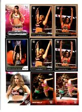 Nikki Bella Wrestling Lot of 9 Different Trading Cards 3 Inserts WWE TNA NB-A1