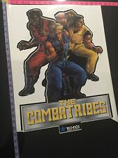 The Combatribes Vintage Side Cabinet Arcade Sticker New Original  *FREE SHIP*