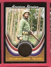 WORLD WAR II WORN CAPTAINS UNIFORM RELIC CARD TOPPS HERITAGE HELLCATS 12th ARMOR