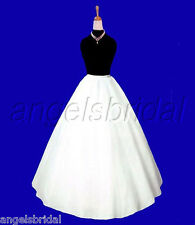 A-LINE SEMI-FULL HOOPLESS MEDIEVAL COSTUME DRESS CRINOLINE PETTICOAT SKIRT SLIP