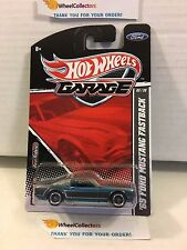 #1 '65 Ford Mustang Fastback GREY * Garage Hot Wheels w/ Real Riders * M4