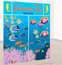 UNDER SEA Scene Setter Luau party wall decoration fish ocean summer beach fun