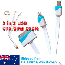 Multi Charger Cable 3in1 USB For HTC Apple iPhone 4 5 6 6S Samsung Galaxy Nokia