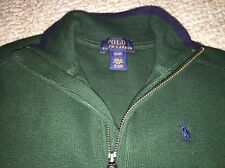 NWT $55 Polo By Ralph Lauren Toddler Boys 3T Half Zipped Sweater Christmas Green