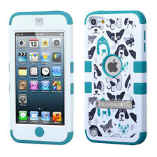 iPod Touch 5th / 6th Gen - BLUE DOG PUPPIES Armor Hard & Soft Rubber Hybrid Case