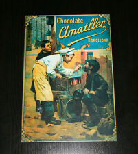 BONITO CUADRO RETRO, CHOCOLATE AMATLLER, MUY DECORATIVO, LAMINA SOBRE MADERA