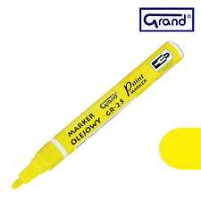 Universal Yellow Paint Marker Oil Based Waterproof Pen Wood Glass Plastic Tyre
