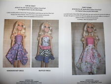 "NG Creations Sewing Pattern #2  fits 28"" Best Fashion Friend Barbie Doll"