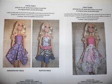 NG Creation Doll Sew Patterns Mr /& Mrs Santa Claus Christmas fits Barbie Ken