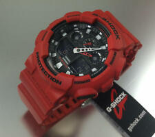 Casio G-Shock Red Resin Unisex Watch GA100B-4A