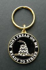 Don't tread on Me Ready to Strike Metal keyring key ring keychain 1.6 inches