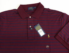 Polo Ralph Lauren SS Pima Soft Touch Striped Polo Shirt w Pony $110 NWT 4 Colors