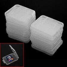 20 Pcs Transparent Plastic Standard SD SDHC Memory Card Case Holder Box Storage