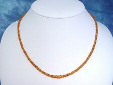 GRANATKETTE 48,50 Ct. facettierte Mandaringranat Kette orange 46 cm (897k)