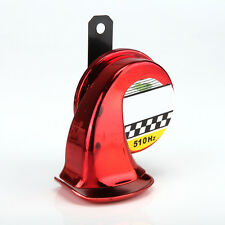 Red Mini Loud Electronic Snail Horn for Auto Motorcycle Car Loud Voice Speaker