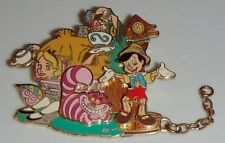 Once Upon a Dream Parade Chain DLRP Disney Pin Alice in Wonderland Cheshire Cat