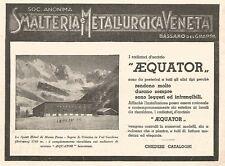 W9715 Radiatori d'acciaio AEQUATOR - Pubblicità del 1935 - Old advertising