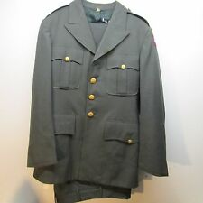 U.S. ARMY DRESS GREEN JACKET & SLACKS 5TH ARMY 39/S  SLACKS 32wX 29w