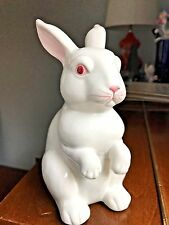 Fitz and Floyd White Ceramic Bunny Rabbit Figurine JAPAN Vintage