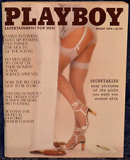 "Magazine PLAYBOY August 1978 !SEXY SECRETARIES 10-PAGES! ""VICKI WITT-CENTERFOLD"""