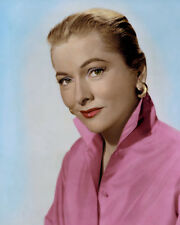 "JOAN FONTAINE BRITISH AMERICAN ACTRESS 8x10"" HAND COLOR TINTED PHOTOGRAPH"