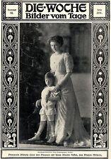 Prinzessin Viktoria Luise von Preussen mit ihrem Neffen Prinz Wilhelm 1911