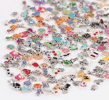 Wholesale 10pcs Mix Charms lots Floating for Living Memory Locket Bracelets