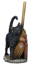 "11"" A Brush with Magick By Lisa Parker Sculpture Figure Statue Magic Black Cat"