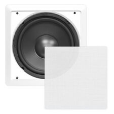 Pyle PylePro PDIWS12 In-Wall/In-Ceiling 12'' High Power Subwoofer System - White
